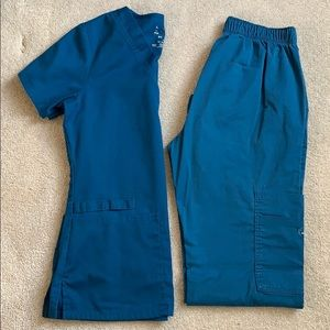 CHEROKEE scrub set Carribean blue XS